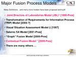 major fusion process models