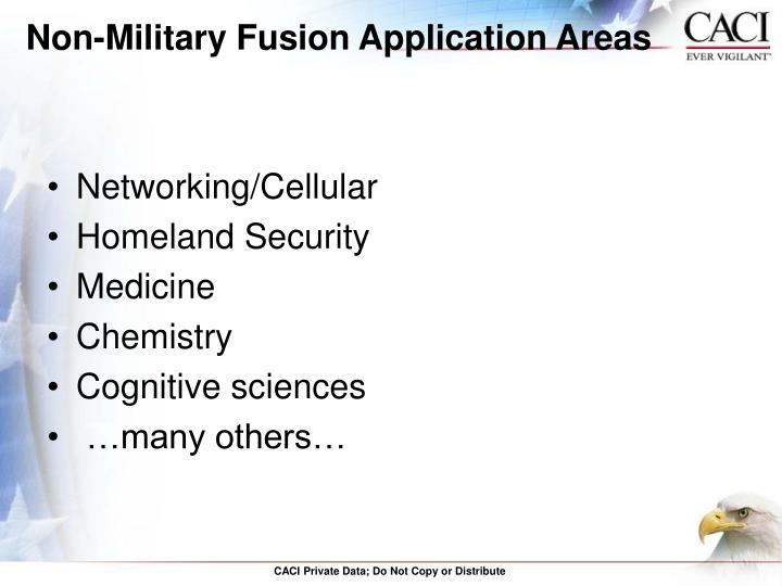 Non-Military Fusion Application Areas