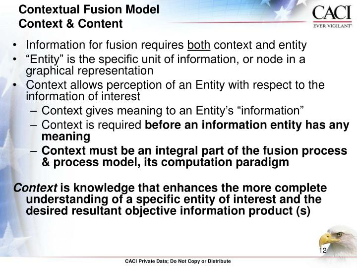 Information for fusion requires