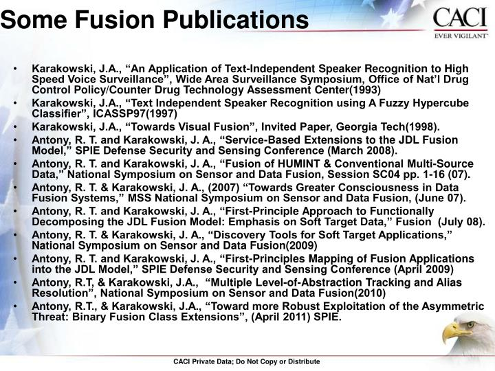 Some Fusion Publications