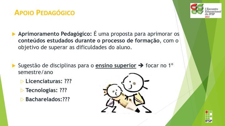 Apoio Pedagógico