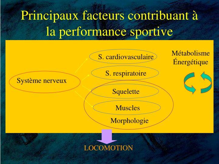 Principaux facteurs contribuant à la performance sportive