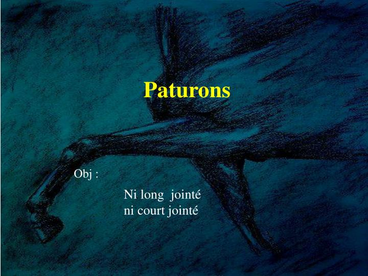 Paturons