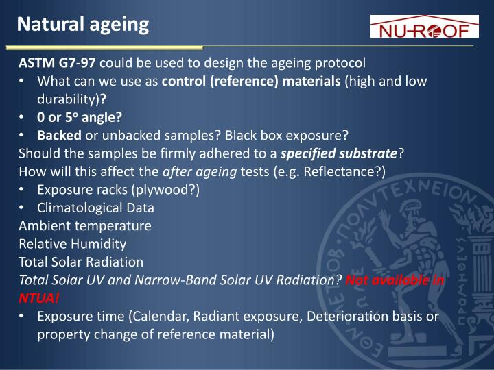 Natural ageing