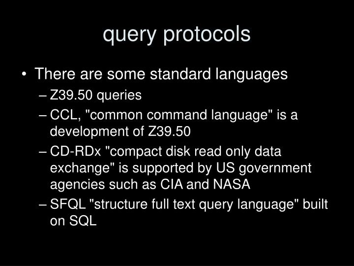 query protocols