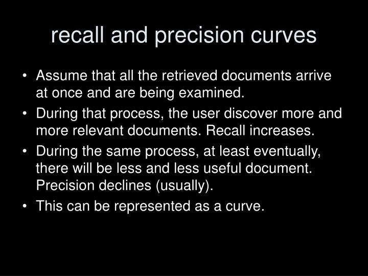 recall and precision curves