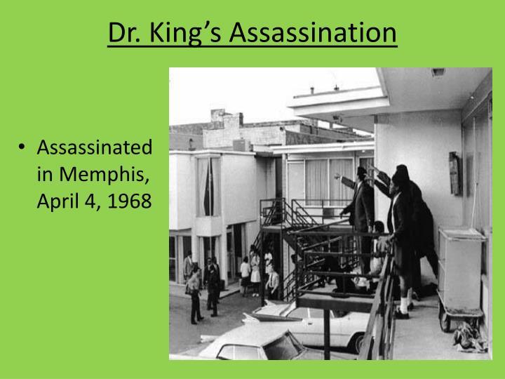 Dr. King's Assassination