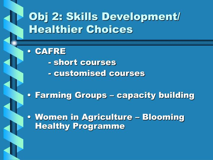 Obj 2: Skills Development/