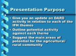 presentation purpose