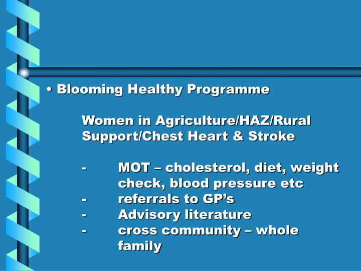 Blooming Healthy Programme