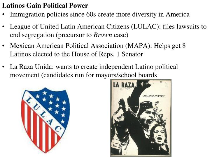 Latinos Gain Political Power