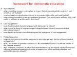 framework for democratic education1