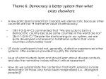 theme 6 democracy is better system than what exists elsewhere