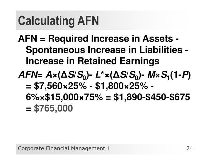 Calculating AFN
