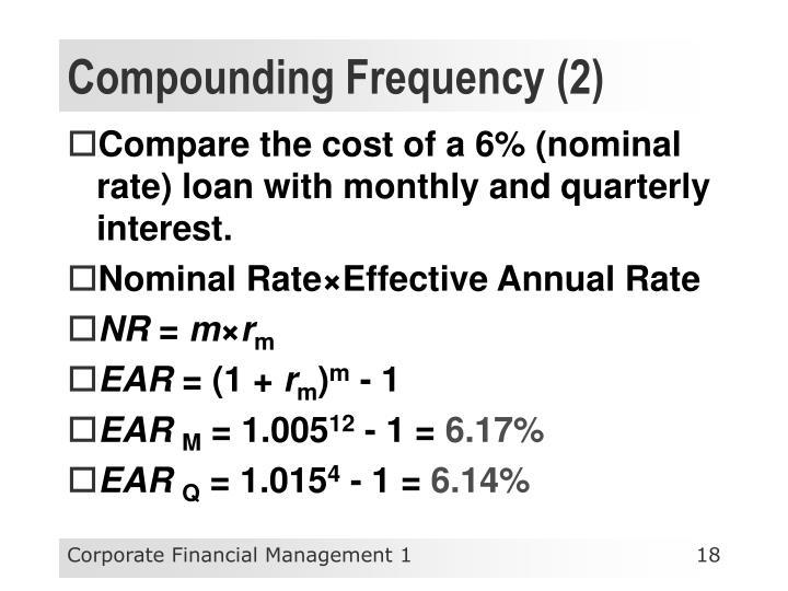 Compounding Frequency (2)