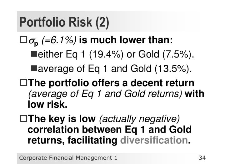 Portfolio Risk (2)