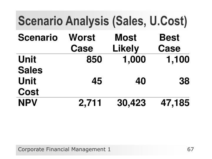 Scenario Analysis (Sales, U.Cost)