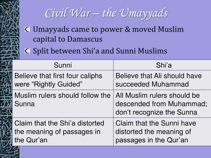 Civil War – the Umayyads