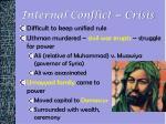 internal conflict crisis