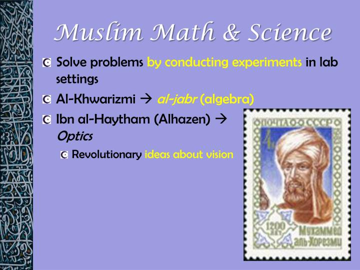 Muslim Math & Science