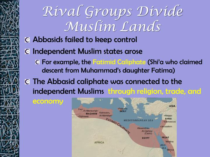 Rival Groups Divide Muslim Lands
