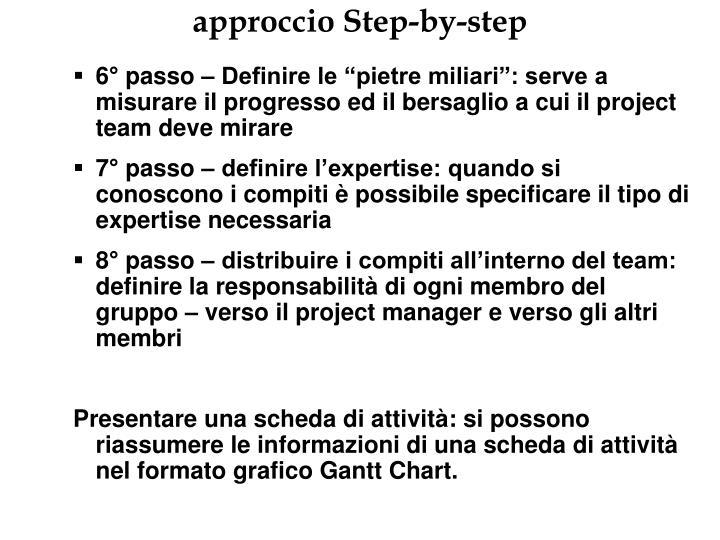approccio Step-by-step