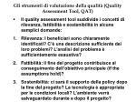 gli strumenti di valutazione della qualit quality assessment tool qat