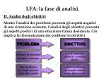 lfa la fase di analisi2