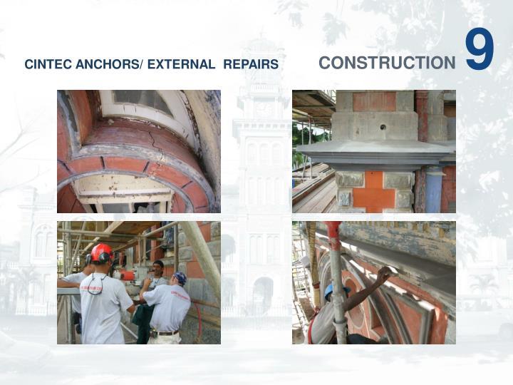 CINTEC ANCHORS/ EXTERNAL  REPAIRS