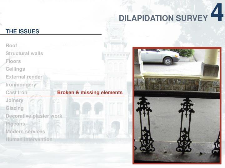DILAPIDATION SURVEY