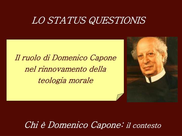 LO STATUS QUESTIONIS