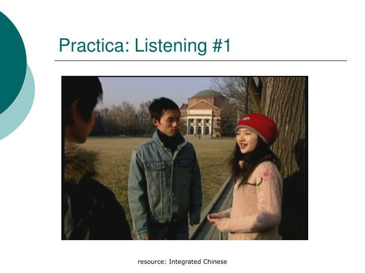 Practica: Listening #1