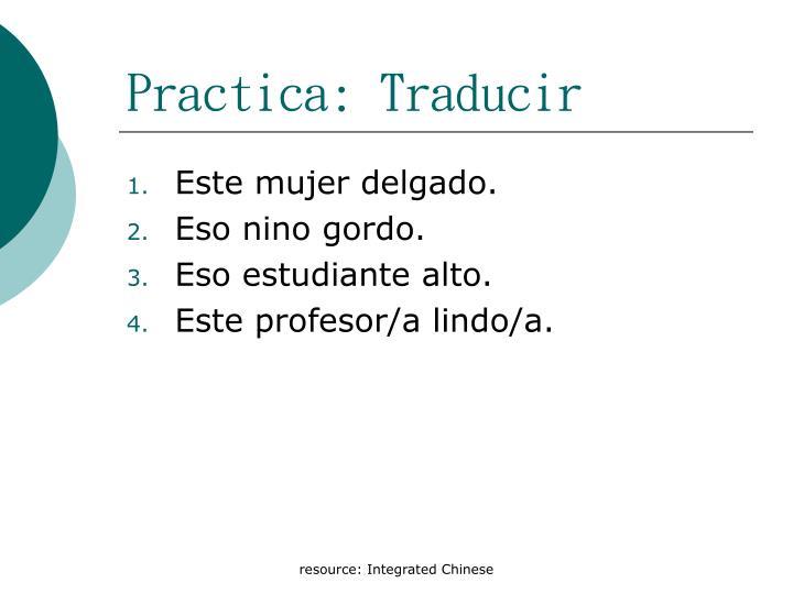 Practica: Traducir