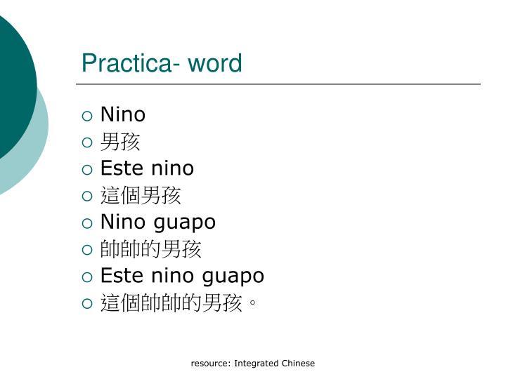 Practica- word