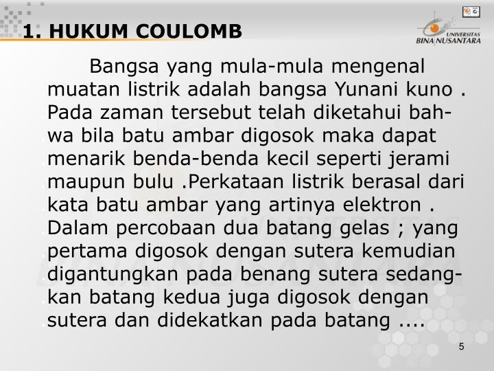 1. HUKUM COULOMB