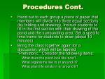 procedures cont1