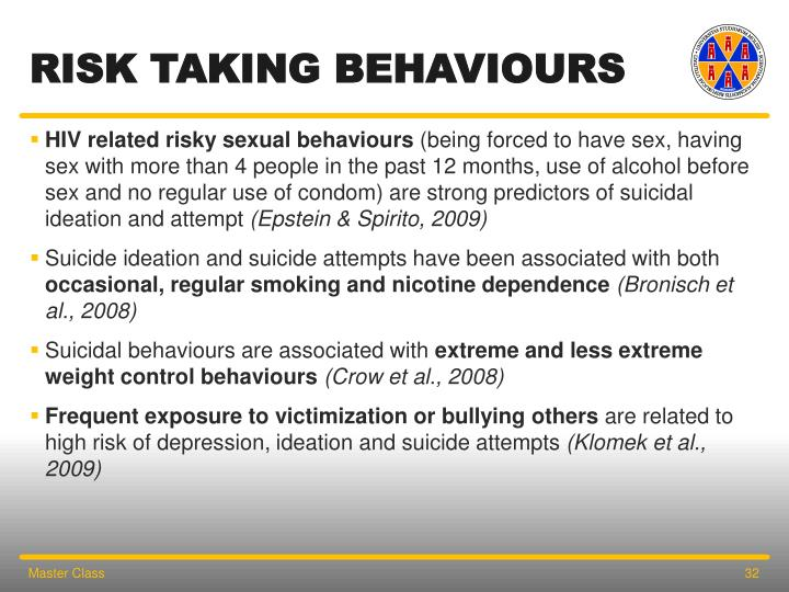 RISK TAKING behaviours