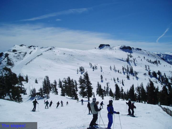 The slopes!
