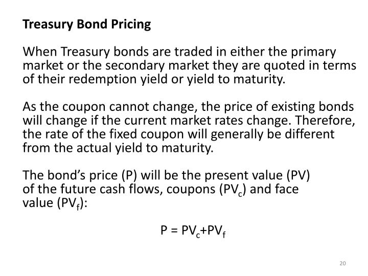 Treasury Bond Pricing