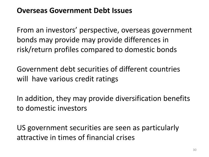 Overseas Government Debt Issues