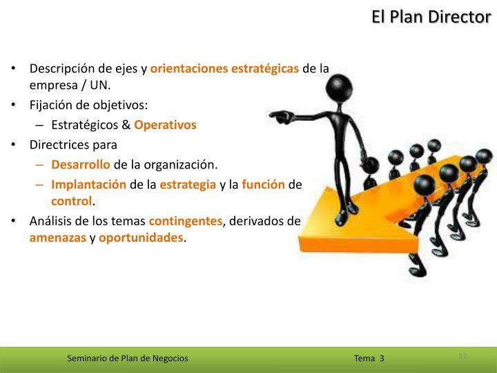 El Plan Director