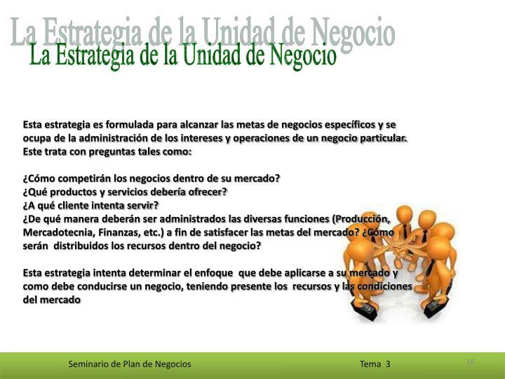 La Estrategia de la Unidad de Negocio