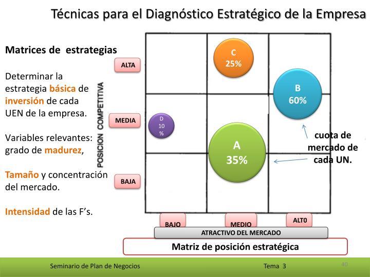 Técnicas para el Diagnóstico Estratégico de la Empresa