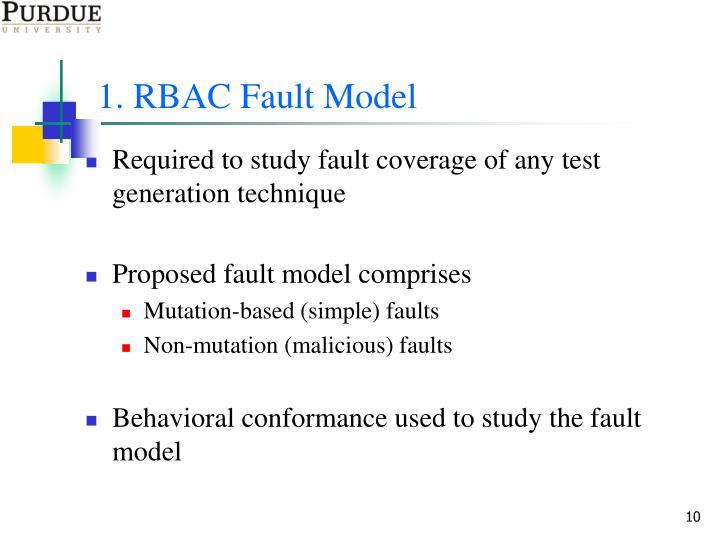 1. RBAC Fault Model
