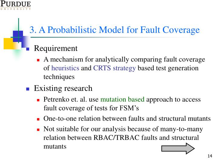 3. A Probabilistic Model for Fault Coverage