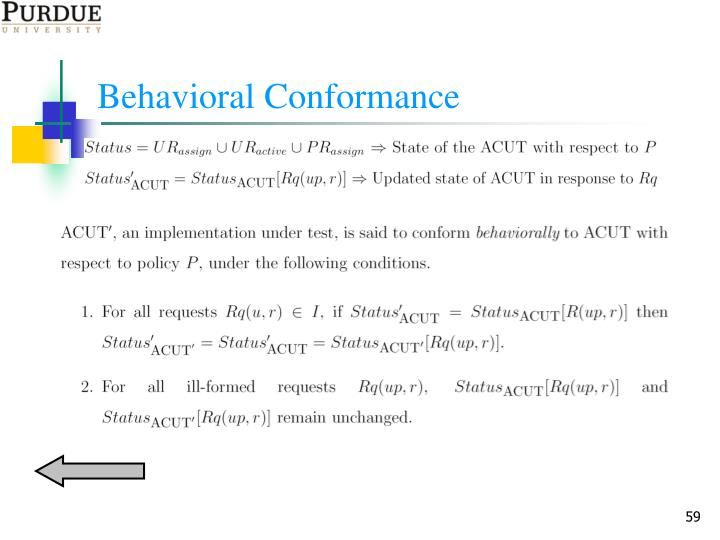 Behavioral Conformance