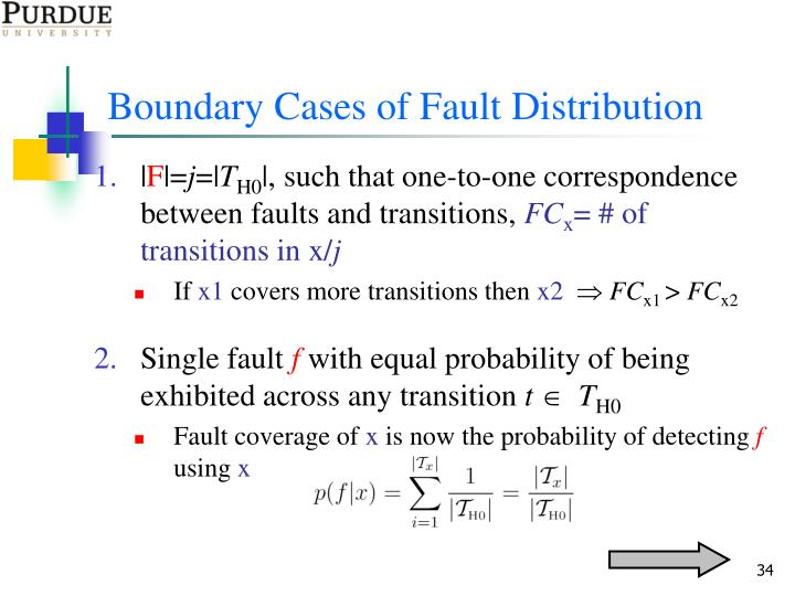 Boundary Cases of Fault Distribution
