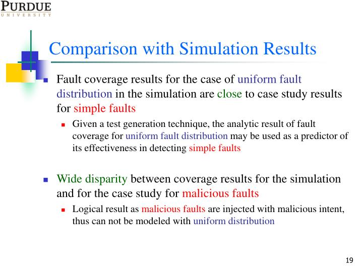 Comparison with Simulation Results