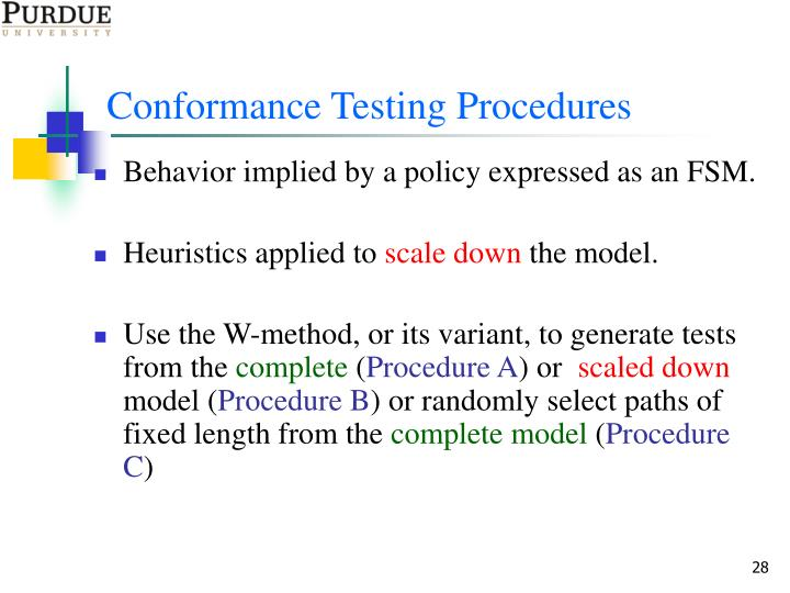Conformance Testing Procedures