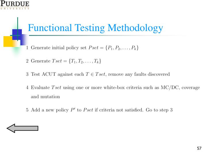 Functional Testing Methodology